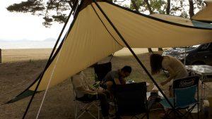 梅雨時に必要なキャンプ用品その①!タープがないと雨の中のキャンプはほぼ無理です!